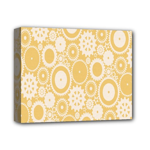 Wheels Star Gold Circle Yellow Deluxe Canvas 14  X 11  by Alisyart
