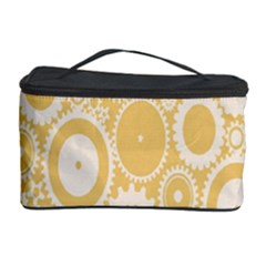 Wheels Star Gold Circle Yellow Cosmetic Storage Case by Alisyart