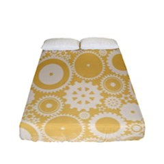 Wheels Star Gold Circle Yellow Fitted Sheet (full/ Double Size) by Alisyart