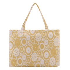 Wheels Star Gold Circle Yellow Medium Tote Bag by Alisyart