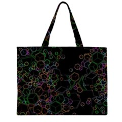 Boxs Black Background Pattern Zipper Large Tote Bag by Simbadda