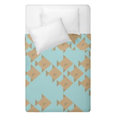Fish Animals Brown Blue Line Sea Beach Duvet Cover Double Side (single Size) by Alisyart