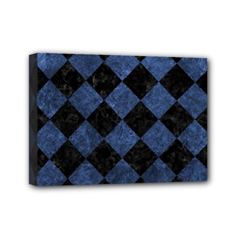 Square2 Black Marble & Blue Stone Mini Canvas 7  X 5  (stretched) by trendistuff