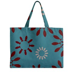 Fish Animals Star Brown Blue White Medium Tote Bag by Alisyart