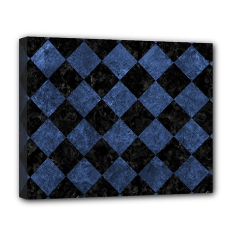 Square2 Black Marble & Blue Stone Deluxe Canvas 20  X 16  (stretched) by trendistuff