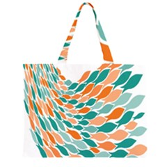 Fish Color Rainbow Orange Blue Animals Sea Beach Zipper Large Tote Bag by Alisyart