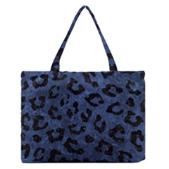 Skin5 Black Marble & Blue Stone Medium Zipper Tote Bag by trendistuff