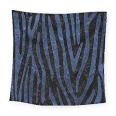 Skin4 Black Marble & Blue Stone (r) Square Tapestry (large) by trendistuff