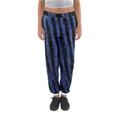 Skin4 Black Marble & Blue Stone Women s Jogger Sweatpants by trendistuff
