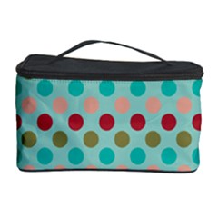 Large Circle Rainbow Dots Color Red Blue Pink Cosmetic Storage Case by Alisyart