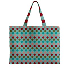 Large Circle Rainbow Dots Color Red Blue Pink Zipper Mini Tote Bag by Alisyart