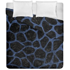 Skin1 Black Marble & Blue Stone (r) Duvet Cover Double Side (california King Size) by trendistuff