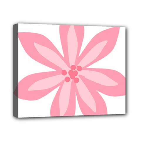 Pink Lily Flower Floral Canvas 10  X 8  by Alisyart