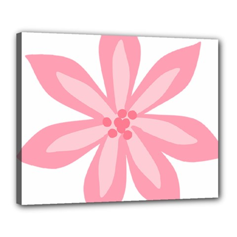 Pink Lily Flower Floral Canvas 20  X 16  by Alisyart