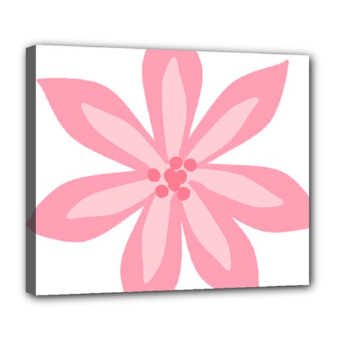 Pink Lily Flower Floral Deluxe Canvas 24  X 20   by Alisyart