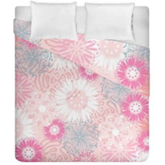 Flower Floral Sunflower Rose Pink Duvet Cover Double Side (california King Size)