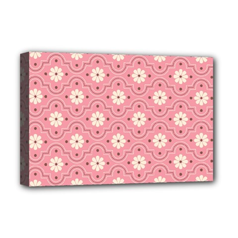 Pink Flower Floral Deluxe Canvas 18  X 12   by Alisyart