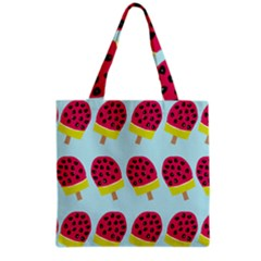 Watermelonn Red Yellow Blue Fruit Ice Grocery Tote Bag by Alisyart