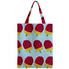 Watermelonn Red Yellow Blue Fruit Ice Zipper Classic Tote Bag by Alisyart