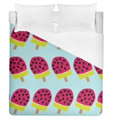 Watermelonn Red Yellow Blue Fruit Ice Duvet Cover (queen Size) by Alisyart