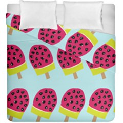 Watermelonn Red Yellow Blue Fruit Ice Duvet Cover Double Side (king Size) by Alisyart
