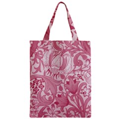 Vintage Style Floral Flower Pink Zipper Classic Tote Bag by Alisyart