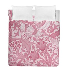 Vintage Style Floral Flower Pink Duvet Cover Double Side (Full/ Double Size) by Alisyart