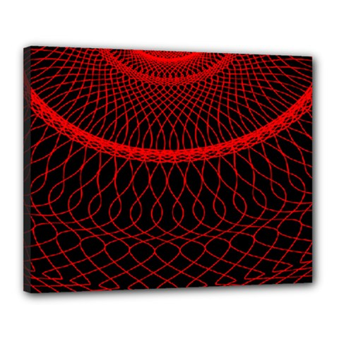 Red Spiral Featured Canvas 20  X 16  by Alisyart
