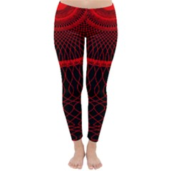Red Spiral Featured Classic Winter Leggings by Alisyart