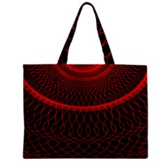 Red Spiral Featured Zipper Mini Tote Bag by Alisyart
