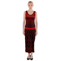 Red Spiral Featured Fitted Maxi Dress by Alisyart