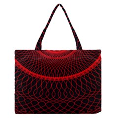 Red Spiral Featured Medium Zipper Tote Bag by Alisyart