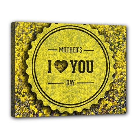 Happy Mother Day Canvas 14  X 11  by Simbadda