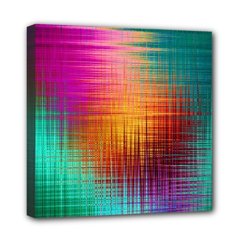 Colourful Weave Background Mini Canvas 8  X 8  by Simbadda