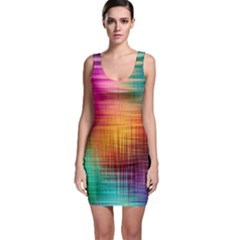 Colourful Weave Background Sleeveless Bodycon Dress by Simbadda