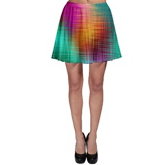 Colourful Weave Background Skater Skirt by Simbadda