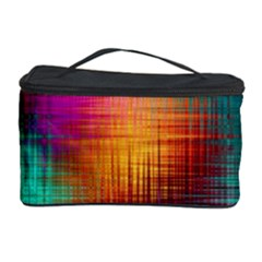 Colourful Weave Background Cosmetic Storage Case by Simbadda