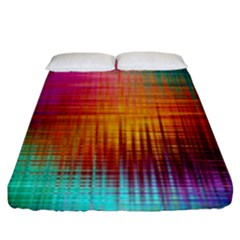 Colourful Weave Background Fitted Sheet (king Size) by Simbadda