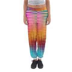Colourful Weave Background Women s Jogger Sweatpants by Simbadda