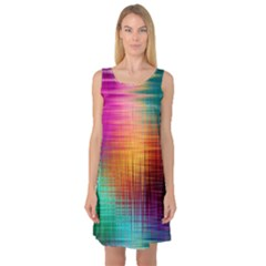 Colourful Weave Background Sleeveless Satin Nightdress by Simbadda