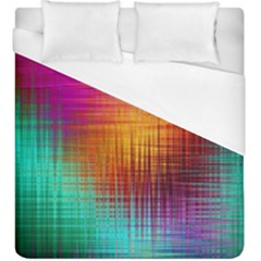 Colourful Weave Background Duvet Cover (king Size) by Simbadda