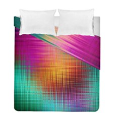 Colourful Weave Background Duvet Cover Double Side (full/ Double Size) by Simbadda