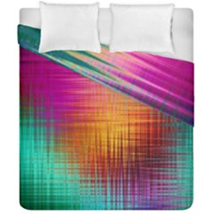 Colourful Weave Background Duvet Cover Double Side (california King Size) by Simbadda