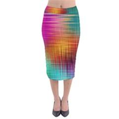 Colourful Weave Background Midi Pencil Skirt by Simbadda