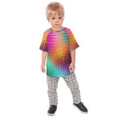 Colourful Weave Background Kids  Raglan Tee by Simbadda