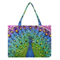 Peacock Bird Animation Medium Tote Bag by Simbadda