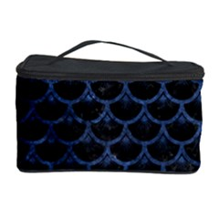 Scales3 Black Marble & Blue Stone Cosmetic Storage Case by trendistuff