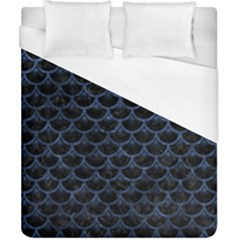 Scales3 Black Marble & Blue Stone Duvet Cover (california King Size) by trendistuff
