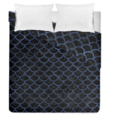 Scales1 Black Marble & Blue Stone Duvet Cover Double Side (queen Size) by trendistuff