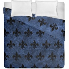Royal1 Black Marble & Blue Stone Duvet Cover Double Side (king Size) by trendistuff